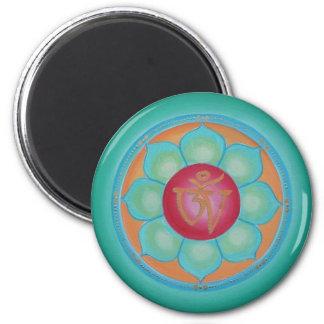 Tibatan Lotus 2 Inch Round Magnet