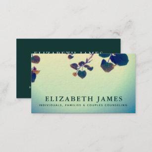 Mental health business cards templates zazzle tiber blue green heart leaf mental health business card colourmoves