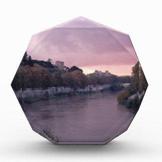 Tiber River at Sunset.png Acrylic Award