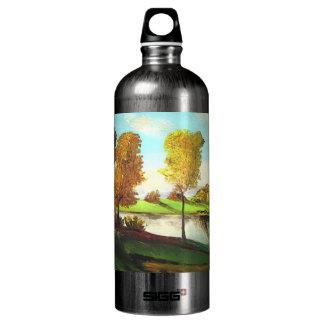 Tiberias views aluminum water bottle