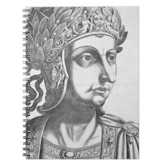 Tiberius César (42 BC-37 ANUNCIO), 1596 (grabado) Spiral Notebooks