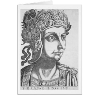 Tiberius César (42 BC-37 ANUNCIO), 1596 (grabado) Tarjeta De Felicitación