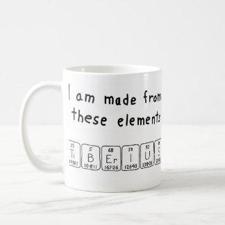 Tiberius periodic table name mug