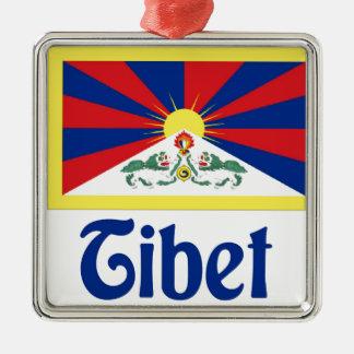 Tíbet Adorno Navideño Cuadrado De Metal
