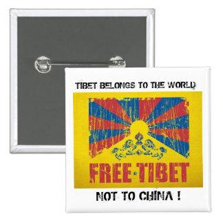 TIBET BELONGS TO THE WORLD Button