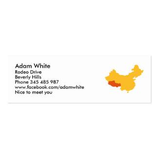 Tibet China map Business Cards