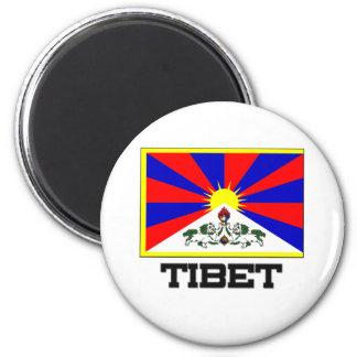 Tibet Flag 2 Inch Round Magnet