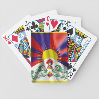 Tibet Flag Bicycle Playing Cards
