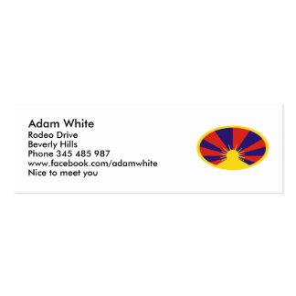 Tibet Flag Business Card Template