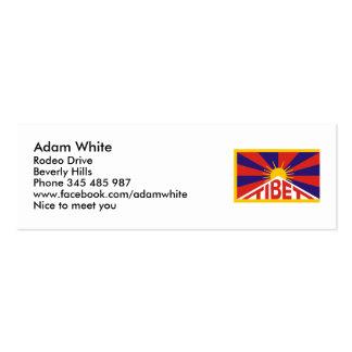 Tibet Flag Business Card