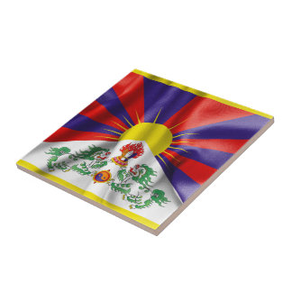 Tibet Flag Ceramic Square Tile