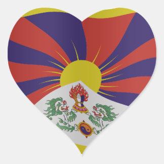 Tibet flag hart stickers