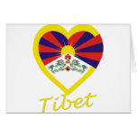 Tibet Flag Heart Card