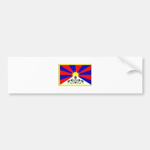 Tibet FLAG International Car Bumper Sticker