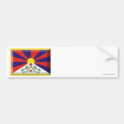 Tibet Flag Jewel Bumper Sticker