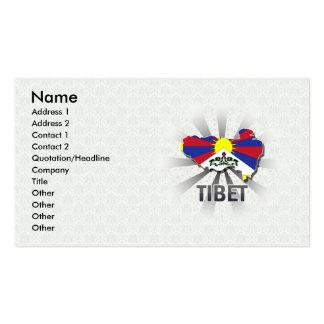 Tibet Flag Map 2.0 Business Card