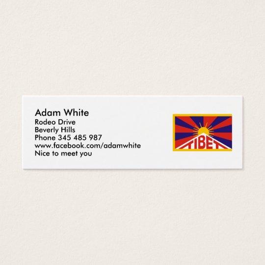 Tibet Flag Mini Business Card