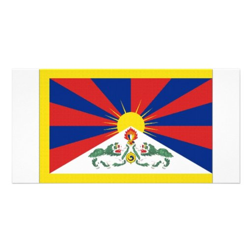 Tibet Flag Personalized Photo Card