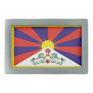 Tibet Flag Rectangular Belt Buckle
