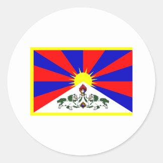 Tibet Flag Round Stickers