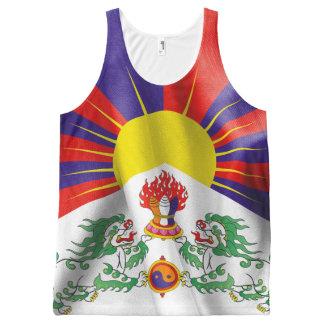 Tibet Flag Unisex All-Over Print Tank Top