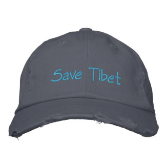Tibet Hats: Distressed Chino Twill Cap Embroidered Baseball Cap