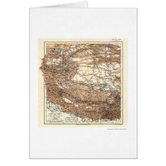 Tibet Hedin Expedition Map 1909 Card