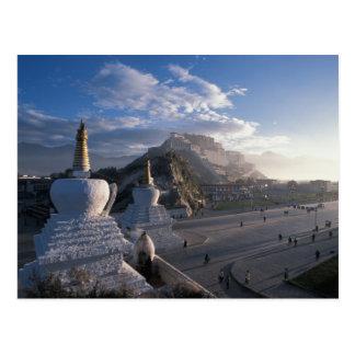 Tíbet - Lasa. Potala en la salida del sol Tarjeta Postal