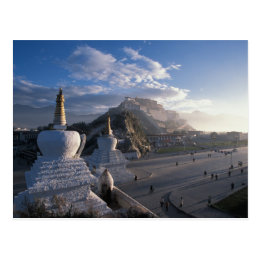Tibet - Lhasa. Potala at sunrise Postcard