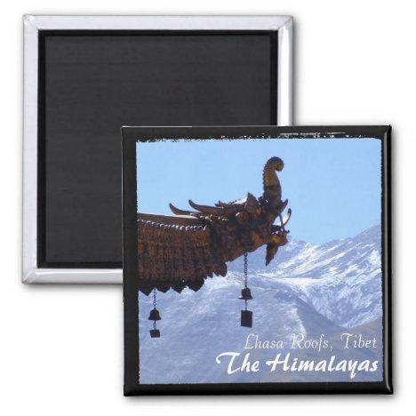 Tibet, Lhasa Roofs, Jokhang Temple (Magnet)