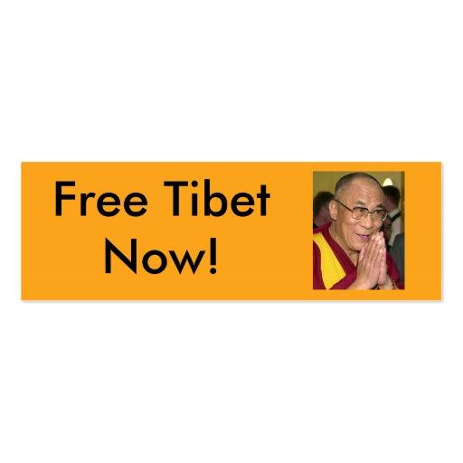 ¡Tíbet libre ahora! Tarjetas De Visita Mini