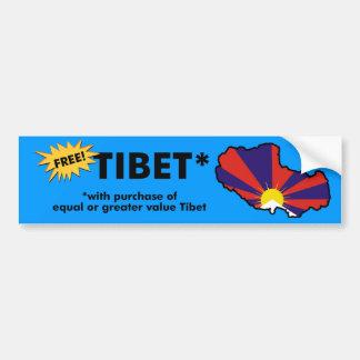 Tibet libre pegatina de parachoque
