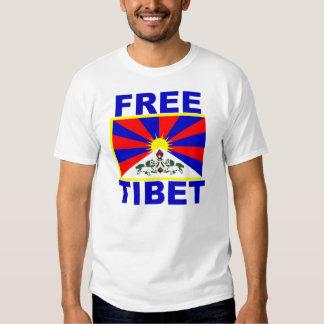 Tíbet libre con la bandera tibetana camisas