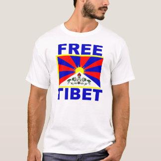 Tíbet libre con la bandera tibetana playera