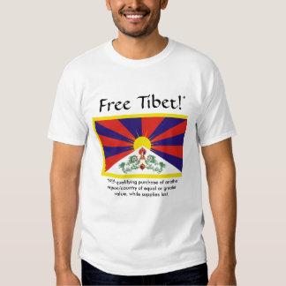 Tíbet libre (con la compra de calificación) playera