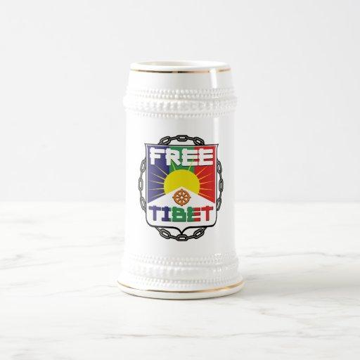 Tíbet libre encadenado jarra de cerveza