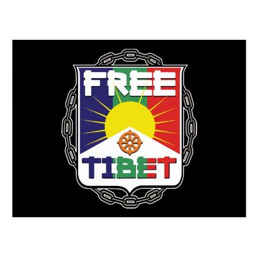 Tíbet libre encadenado tarjeta postal