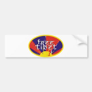 Tíbet libre etiqueta de parachoque