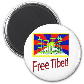 ¡Tíbet libre! Imán Redondo 5 Cm