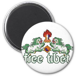 Tíbet libre imán redondo 5 cm