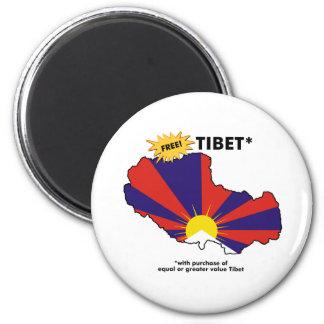 Tibet* libre imán redondo 5 cm