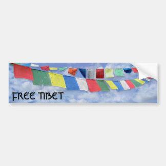 Tíbet libre pegatina para auto