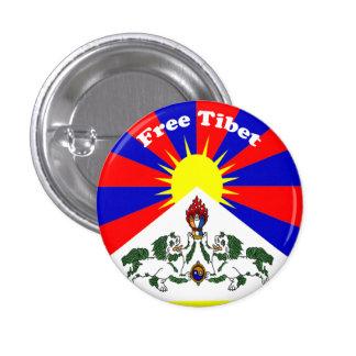 Tíbet libre pin redondo de 1 pulgada