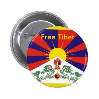 Tíbet libre pin redondo de 2 pulgadas