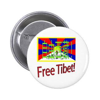 ¡Tíbet libre! Pin Redondo De 2 Pulgadas