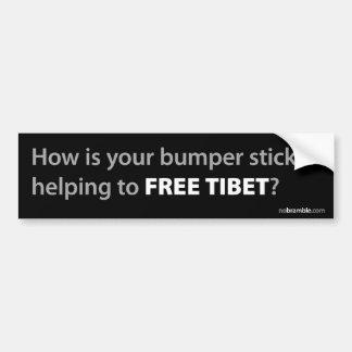 Tíbet libre: ¿Realmente? Pegatina Para Auto
