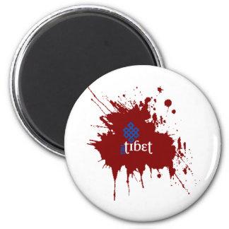 Tíbet libre sangriento imán redondo 5 cm