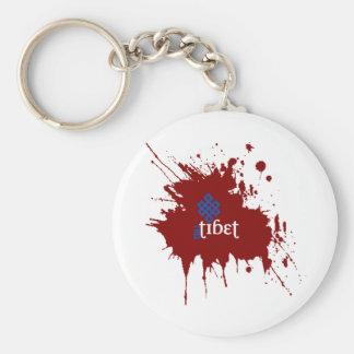 Tíbet libre sangriento llaveros personalizados
