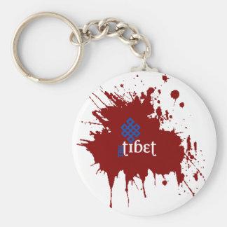 Tíbet libre sangriento llavero