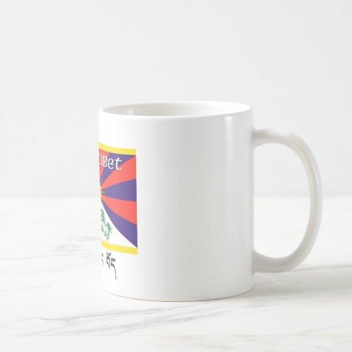 Tíbet libre taza de café